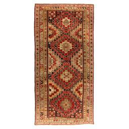 Sale 9124C - Lot 1 - Antique Caucasian Karabagh Rug, 150x310cm, Handspun Wool