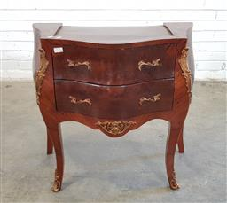 Sale 9154 - Lot 1086 - French style elevated 2 drawer commode, missing marble top (h:76 x w:78 x d:42cm)
