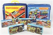 Sale 8448 - Lot 26 - Boxed Model Trains And Two Matchbox Cases