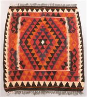 Sale 8445K - Lot 22 - Maimana Afghan Kilim Rug , 94x91cm, Handwoven in Northern Afghanistan using durable local wool. Traditional and reversible slit weav...