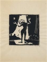 Sale 8592A - Lot 5085 - Garry Shead (1942 - ) (5 works) - Untitled, 1983 15 x 15cm, each