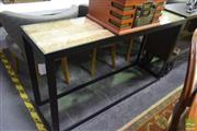 Sale 8523 - Lot 1043 - Metal Based Hall Table with Driftwood Finish