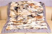 Sale 8568A - Lot 91 - A fox fur patchwork throw, 216 x 113cm