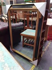 Sale 8601 - Lot 1124 - Gilt & Ebonised Framed Rectangular Mirror (110 x 80cm)