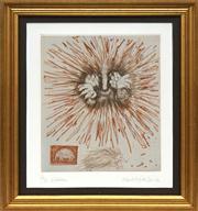 Sale 8716 - Lot 2033 - Frank Hodgkinson (1919 - 2001) - Echidna, 1992 24 x 22cm