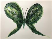 Sale 8723A - Lot 5041 - Charles Blackman (1928 - 2018 ) - Leaf Butterfly 56 x 76cm