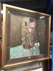 Sale 8811 - Lot 2048 - Gustav Klimt Decorative Print, 85 x 84cm (frame)