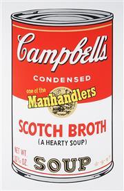 Sale 9034A - Lot 5031 - Andy Warhol (1928 - 1987) - Campbell Soup II - Scothch Broth 89 x 58 cm (frame: 116 x 85 x 4 cm)