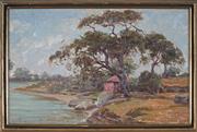 Sale 9061 - Lot 2037 - Luigi Nobili - Botany Bay 28 x 44 cm (frame: 33 x 49 x 3 cm)