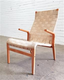 Sale 9151 - Lot 1085 - Niels Eilersen Danish lounge high back chair (h90 x w55 x d63cm)