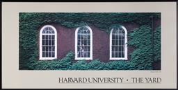 Sale 9150H - Lot 58 - A photographic print depicting the Harvard Hall of Harvard University, frame size 39x 77cm