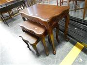 Sale 7943A - Lot 1533 - Mahogany Nest Of Three Table