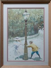 Sale 8575J - Lot 36 - Gerrard Lants - The lamp post 49 x 33cm