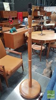 Sale 8409 - Lot 1044 - Turned Teak Standard Lamp