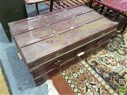 Sale 8532 - Lot 1078 - Maroon Timber Bound Metal Trunk
