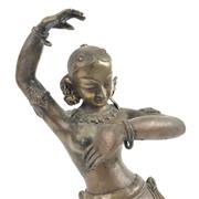 Sale 8699A - Lot 716 - Indian Bronze Dancing Devi Figure, height 40cm