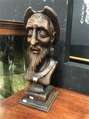 Sale 8868 - Lot 1176 - The Conquistador Wooden Bust