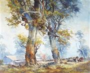 Sale 9067 - Lot 535 - DArcy Doyle (1932 - 2001) - Frosty Morning 39.5 x 49.5 cm (frame: 58 x 68 x 5 cm)