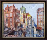 Sale 8309A - Lot 6 - Harry Marriott-Burton (1882 - 1879) - Amsterdam 50 x 60cm