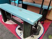 Sale 8465 - Lot 1087 - Two Painted Outdoor Bench Seats