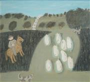 Sale 8504 - Lot 502 - Helene Grove (XX - ) - Untitled, 2004 (Herding the Sheep) 57 x 67cm