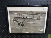 Sale 8544 - Lot 2092 - Framed Photograph of Hawker Demon Bi-Plane, Melbourne