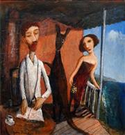 Sale 8597 - Lot 564 - Garry Shead (1942 - ) - The Critics, 1994 51.5 x 48cm