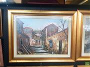 Sale 8640 - Lot 2049 - Artist Unknown - Italian Town Scene 70 x 90 (frame size)