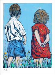 Sale 8723A - Lot 5051 - David Bromley (1960 -) - Friends 33 x 24cm