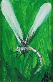 Sale 8781 - Lot 548 - Kevin Charles Pro Hart (1928 - 2006) - Dragonfly, c1980s 20.5 x 13cm