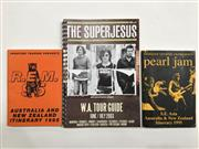Sale 8893M - Lot 71 - Itinerary Booklets for Pearl Jam Aus & NZ 1995, R.E.M Aus & NZ 1995 and The Superjesus W.A 2003