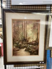Sale 8906 - Lot 2013 - Peter Fennell - Near Kulnura 1983 oil on canvas on board, 73.5 x 59cm (frame), signed