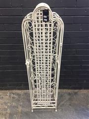Sale 9006 - Lot 1005 - Scrolled Metal Wine Rack Cage (H:138 x W:36 x D:34cm)