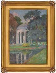 Sale 8871H - Lot 82 - Emanuel Phillips Fox (1865 - 1915) - The Temple of Love, Versailles 45.5 x 31.5cm