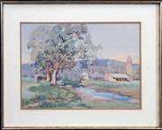 Sale 8422T - Lot 2068 - Carlyle Jackson (1891 - 1940) - Countryscape with Homestead, 1935 35 x 49cm