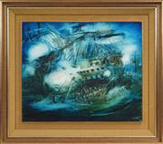 Sale 8449A - Lot 558 - Kevin Charles (Pro) Hart (1928 - 2006) - Trafalgar 50 x 60.5cm