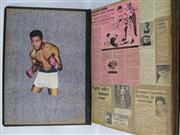 Sale 8450S - Lot 717 - Large Format Boxing Scrapbook - dated 1956-1958