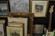 Sale 8464 - Lot 2092 - Collection of Assorted Artworks incl. original oil painting by unknown artist, original watercolour & framed decorative prints