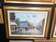 Sale 8640 - Lot 2050 - E Berett - Paris Street Scene c1920 70 x 90 cm (frame size)