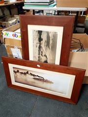 Sale 8686 - Lot 2096 - 2 Photographic Prints: QCB Jacobsen Paddle Steamer & Uluru