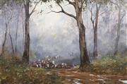 Sale 8713 - Lot 524 - Kevin Best (1932 - 2012) - Crossing the Cobungra 50 x 75cm