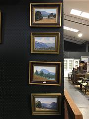 Sale 8750 - Lot 2057 - 4 Henry Dunne South Coast Scenes, oils