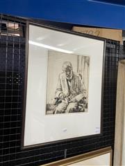 Sale 9019 - Lot 2075 - Malcolm Osborne (1880 - 1963) Sir Cuthbert Grady, 1942 drypoint etching, 51 x 41cm (frame) signed