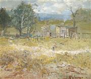 Sale 9067 - Lot 591 - Lance Solomon (1913 - 1989) - Farmer Returning Home 24 x 28.5 cm (frame: 42 x 46 x 4 cm)