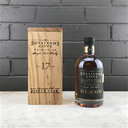 Sale 9120W - Lot 1431 - Sullivans Cove 'American Oak' 17YO Single Malt Tasmanian Whisky - barrel no. HH0499, bottle no. 62/121, filled 2020, decanted 2018,..