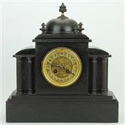 Sale 8413 - Lot 94 - Jules Rolez Limited French Slate Mantle Clock