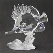 Sale 8412B - Lot 55 - Swarovski Crystal Fish with Box - Height 8.6cm