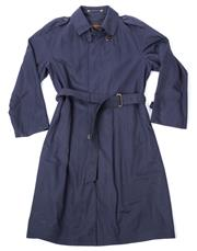 Sale 8550F - Lot 9 - An Yves Saint Laurent midnight blue gabardine mens trench coat, size S.
