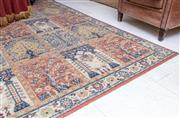 Sale 8568A - Lot 95 - A Persian style compartment carpet with niches and trees of life, on orange ground, 360 x 275cm