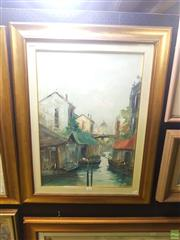 Sale 8640 - Lot 2034 - Artist Unknown - Canal Scene, Venice 70 x 90 cm (frame size)